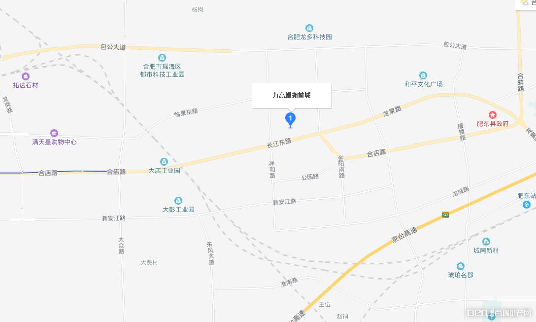 力高·澜湖前城交通图