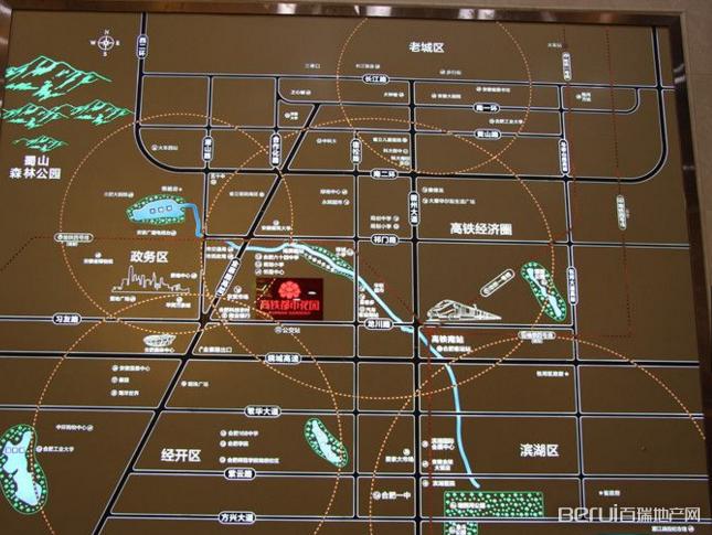 上铁高铁都市花园交通图