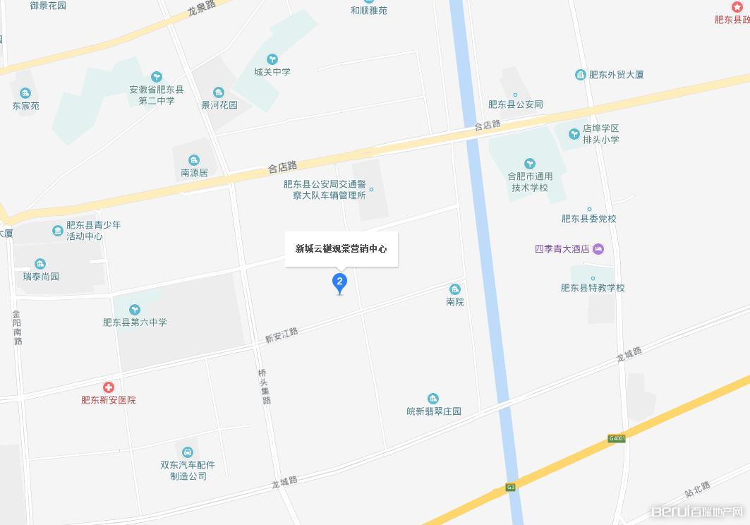 新城云樾观棠交通图