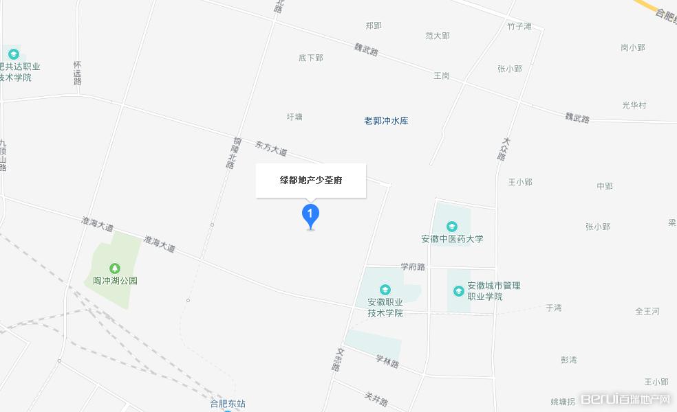 绿都地产少荃府交通图