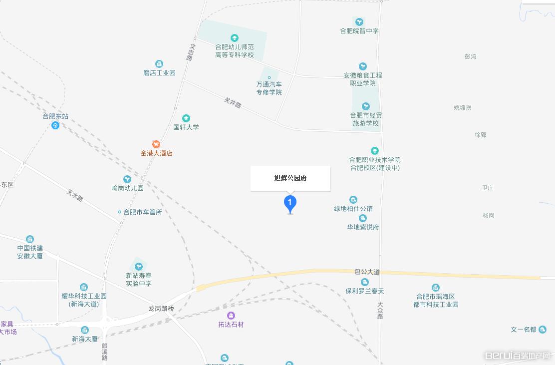旭辉公园府交通图