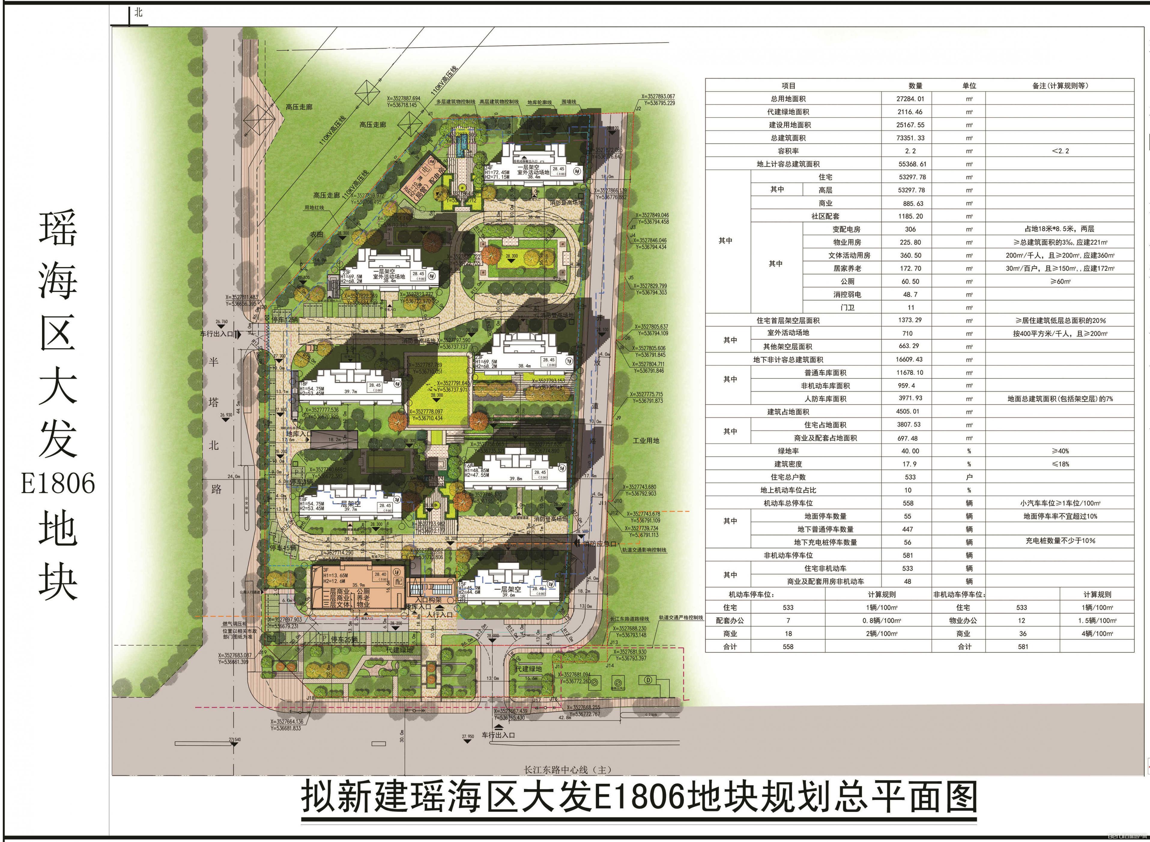 上海大发瑶海E1806地块规划图