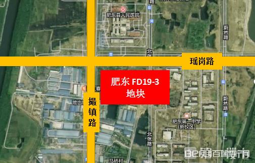 城乡建设投资有限公司肥东FD19-3地块交通图