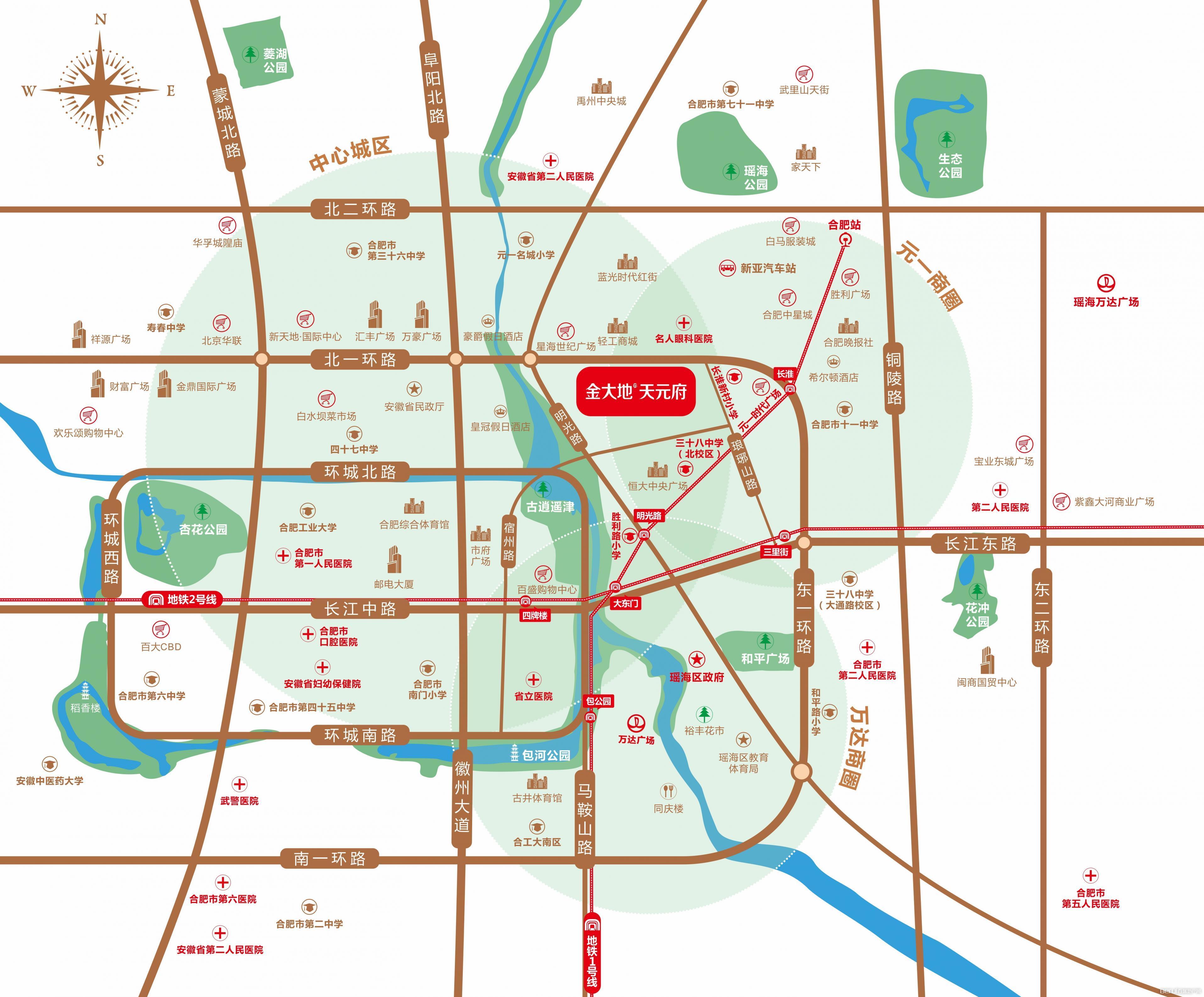 金大地·天元府交通图