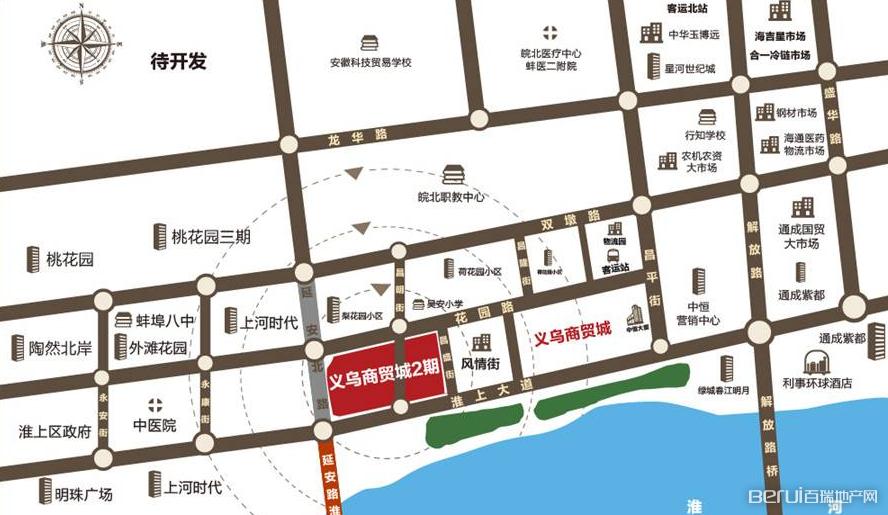 中恒蚌埠义乌国际商贸城交通图