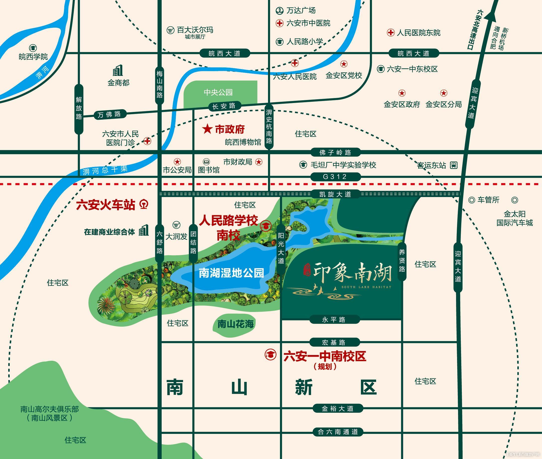 苏盛·印象南湖交通图