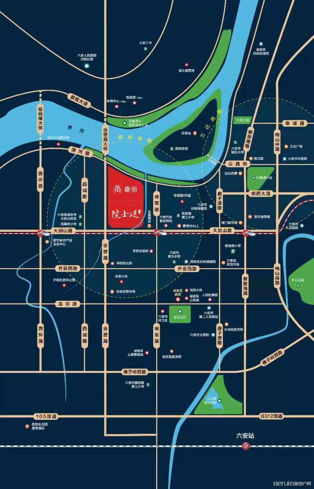 富力院士廷交通图