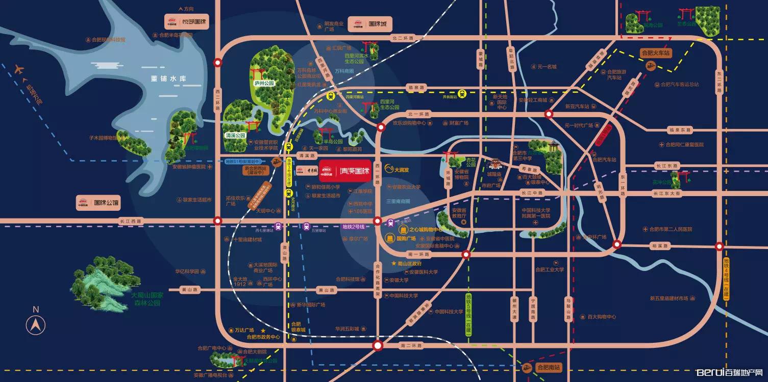 中国铁建清溪国际·樾园交通图