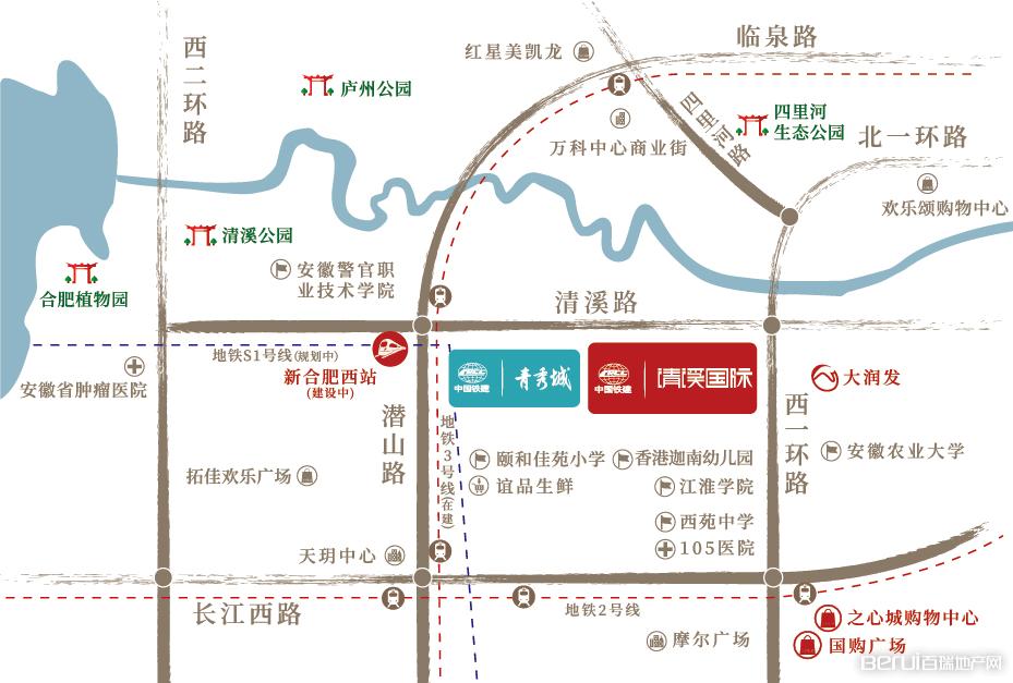 中国铁建清溪国际·樾园区位图