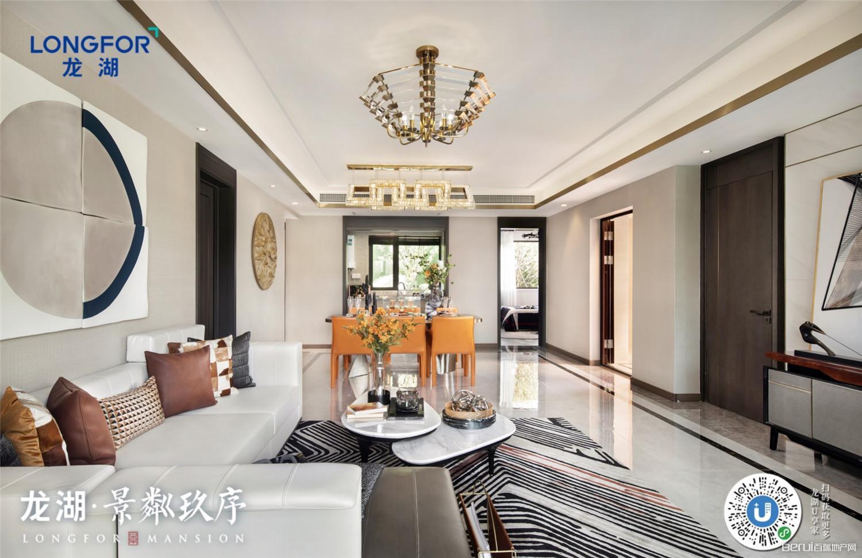 龙湖·景粼玖序147㎡客厅