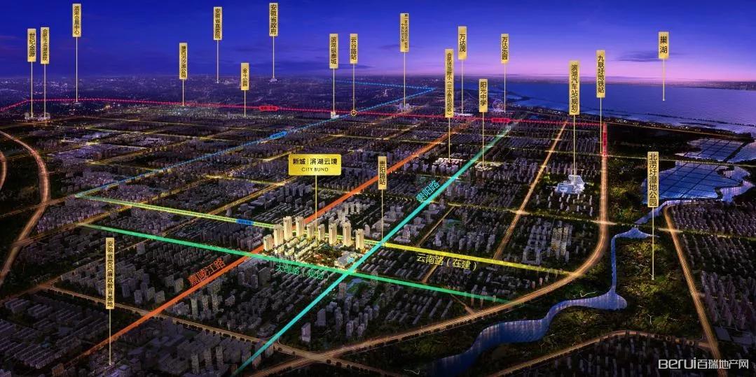 新城·滨湖云境交通图