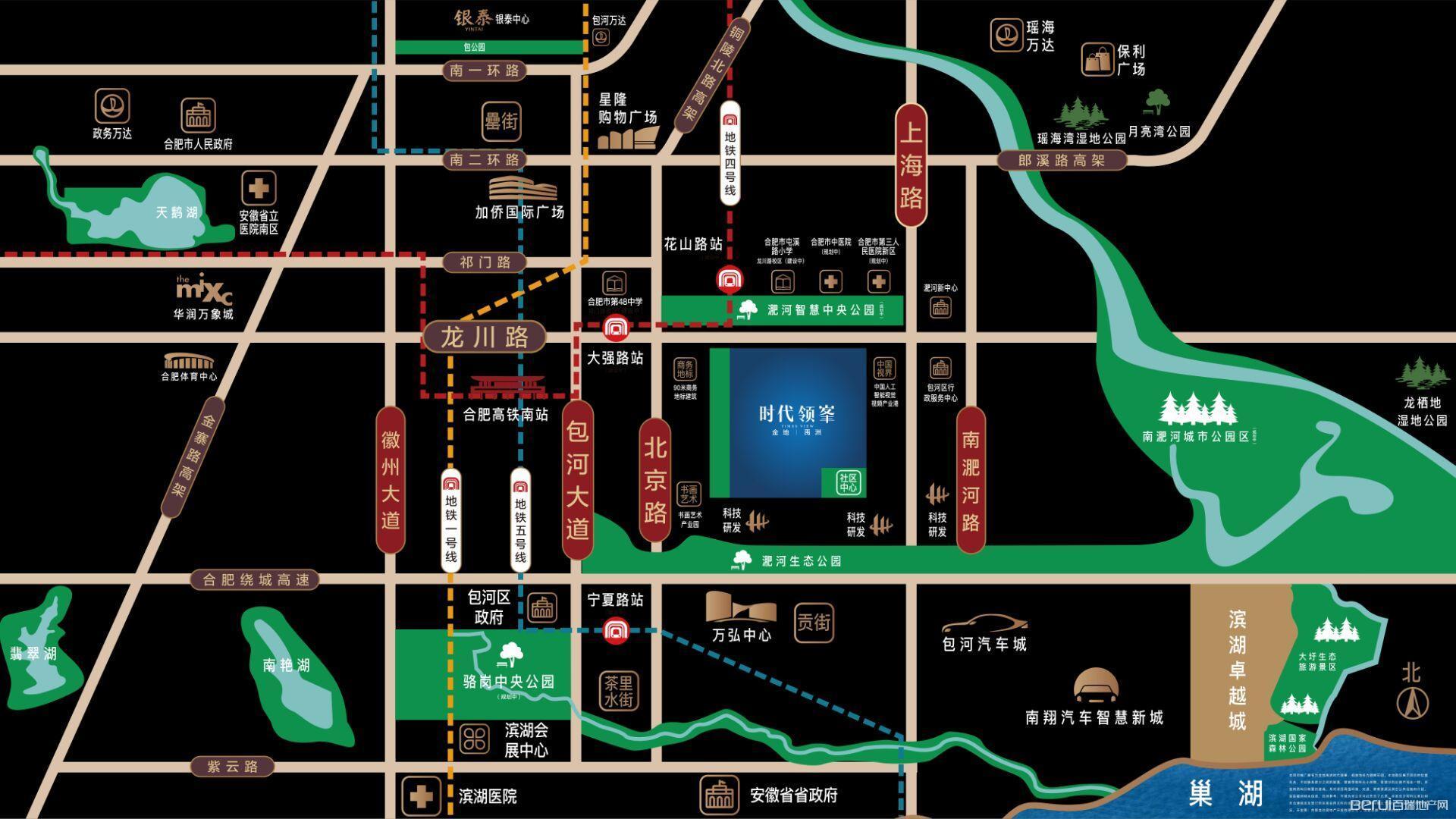 金地禹洲·时代领峯交通图