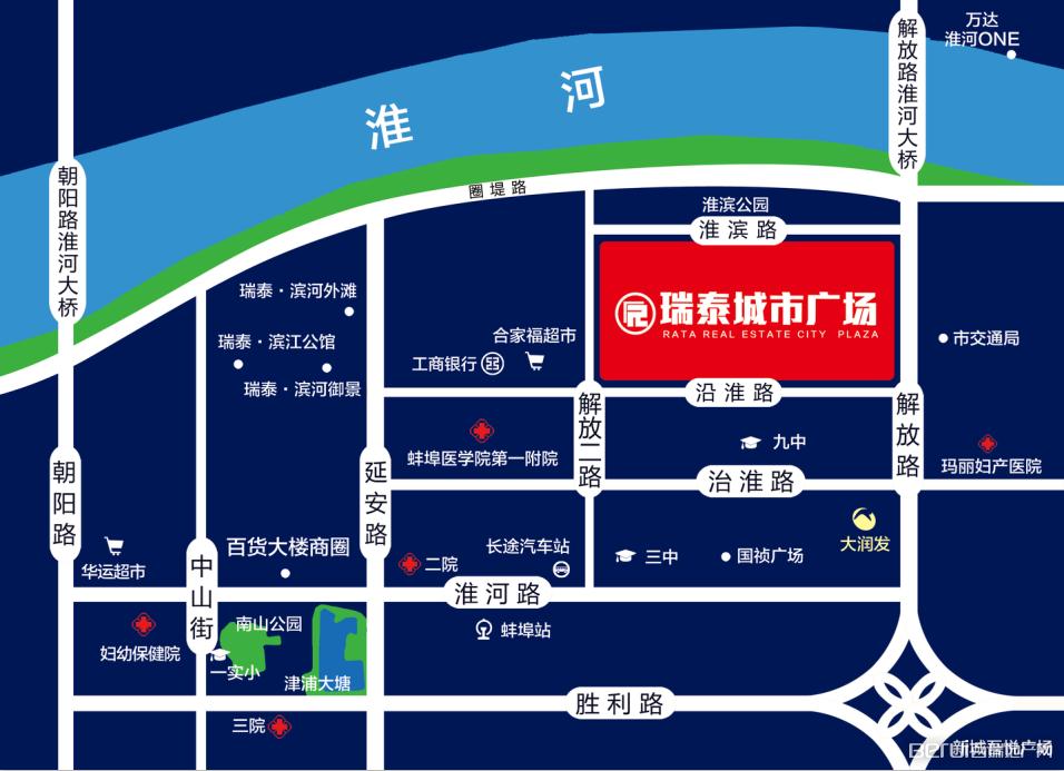 瑞泰城市广场交通图