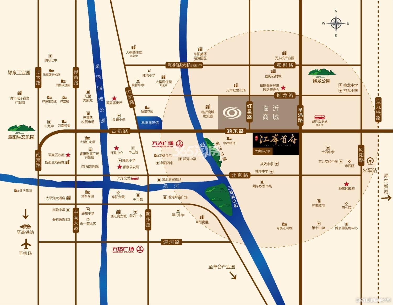平和江岸首府交通图