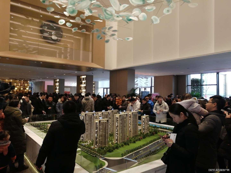 悦湖新著售楼部开放实景图