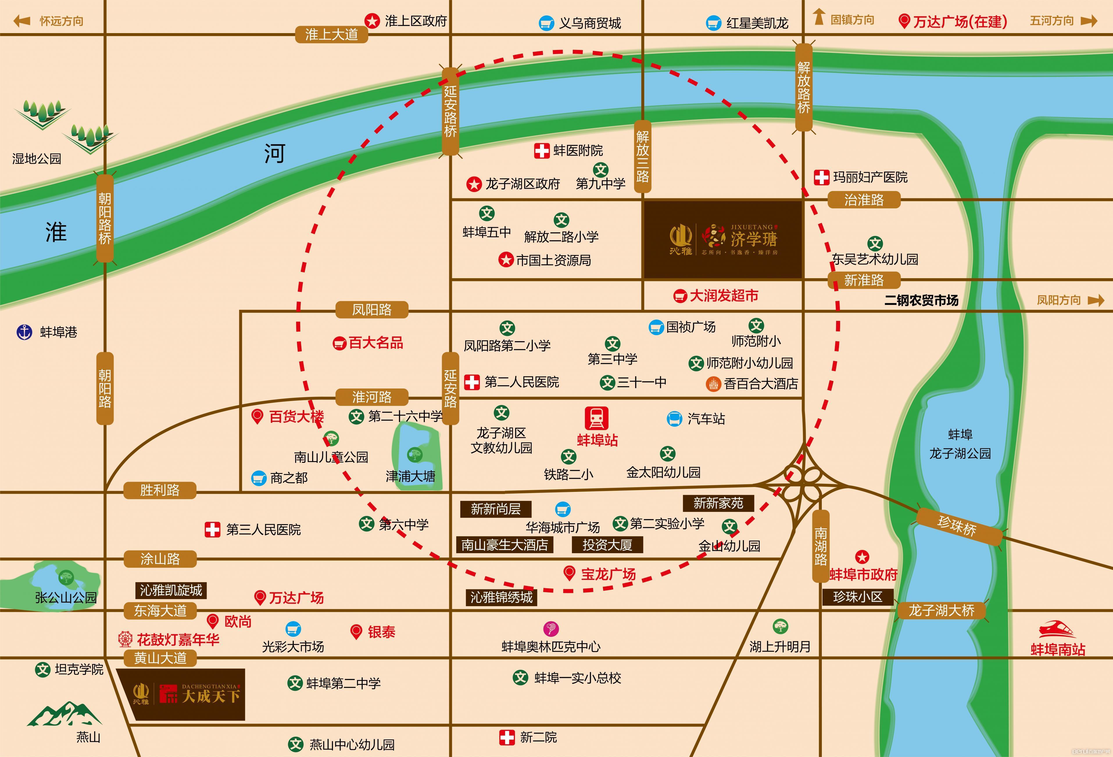 沁雅济学瑭交通图