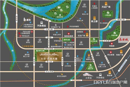 长安·西宸天著交通图