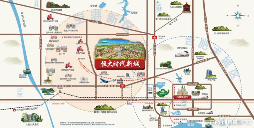 空港恒大时代新城交通图