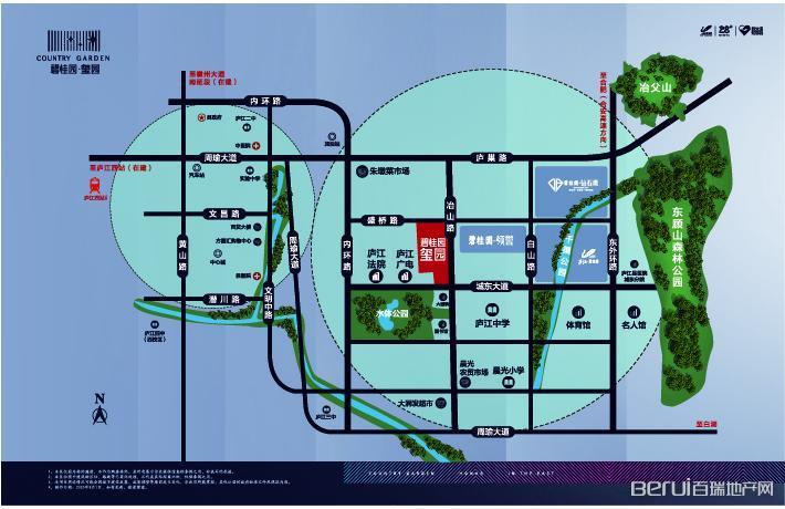 碧桂园·玺园交通图
