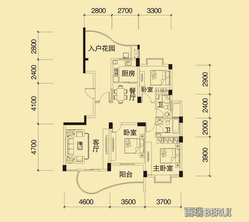 森林海13#T户型