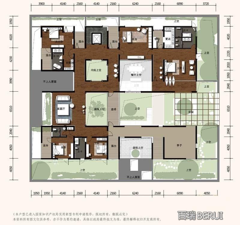 合院独栋别墅A户型二层