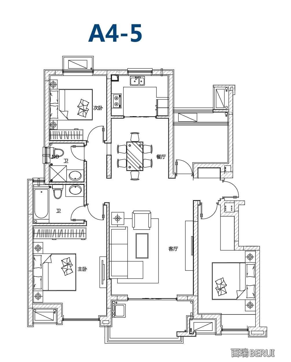 万科蓝山洋房 A4-5