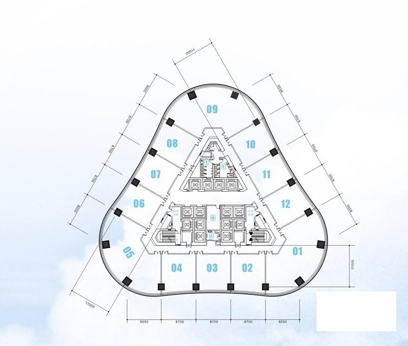 安粮国贸中心中区10-19层