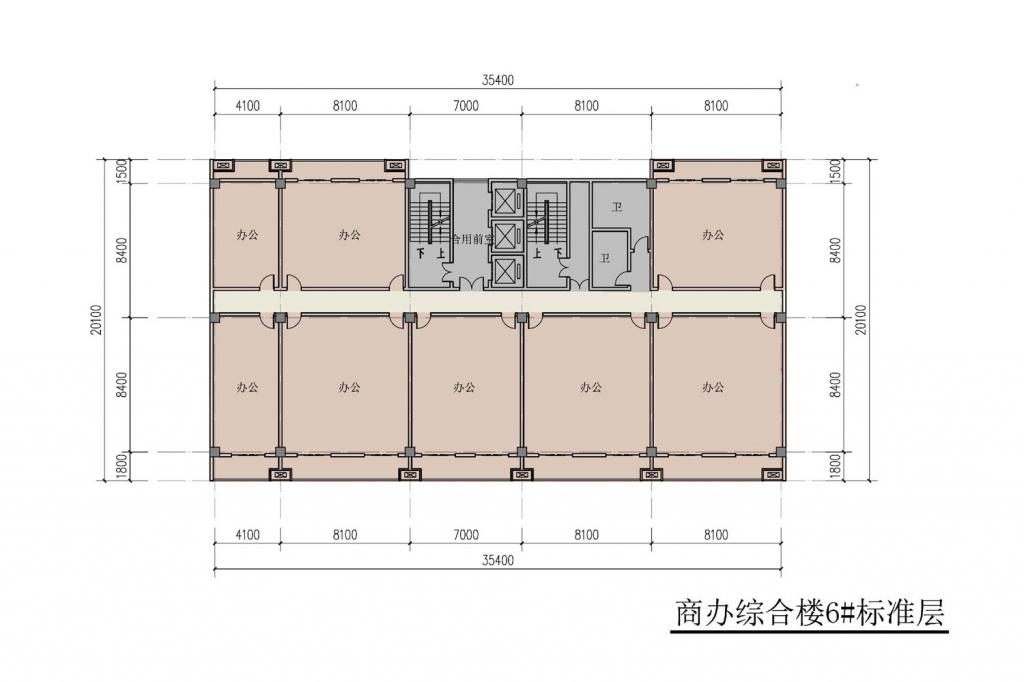 南翔汽车智慧新城商办综合楼6#标准层