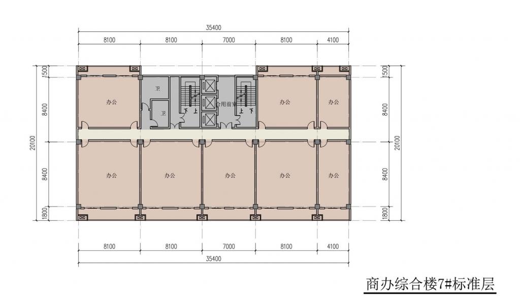 南翔汽车智慧新城商办综合楼7#标准层