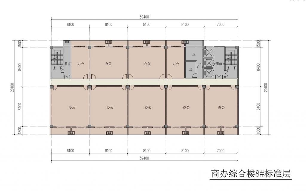 南翔汽车智慧新城商办综合楼8#标准层
