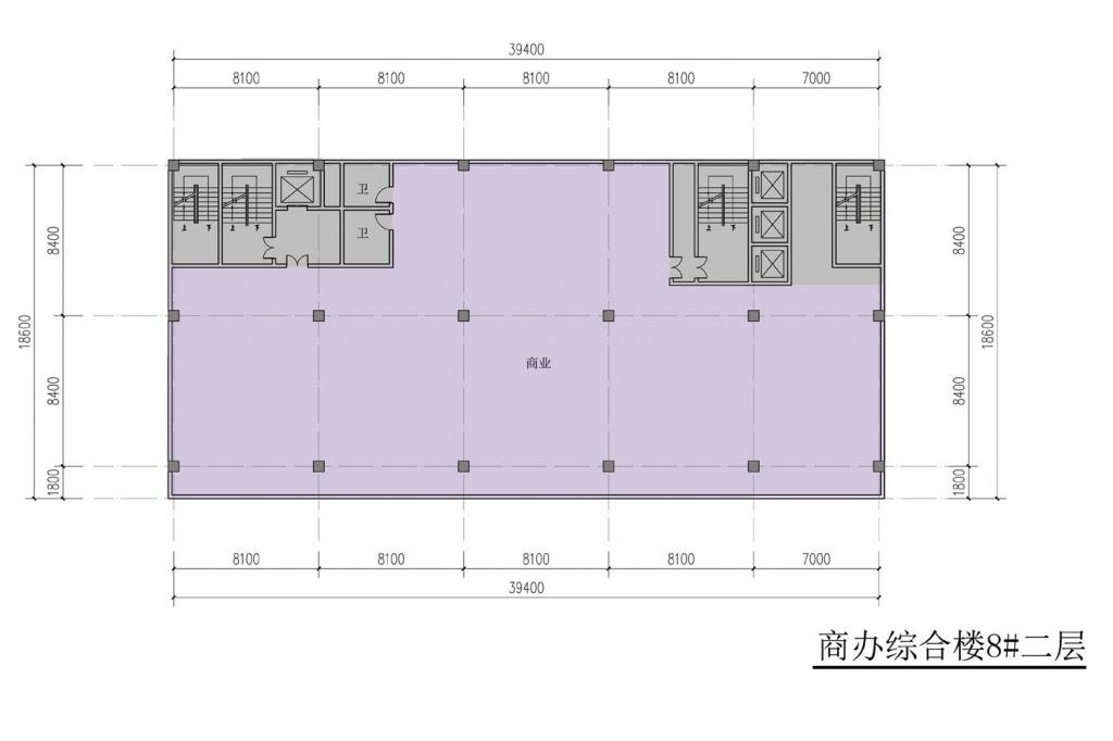 南翔汽车智慧新城商办综合楼8#二层