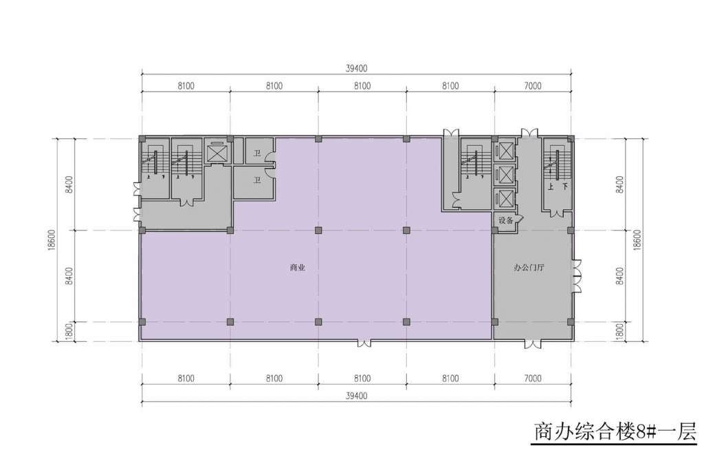 南翔汽车智慧新城商办综合楼8#一层