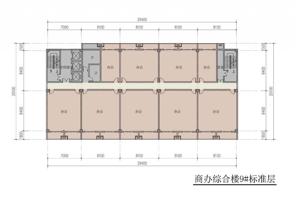 南翔汽车智慧新城商办综合楼9#标准层