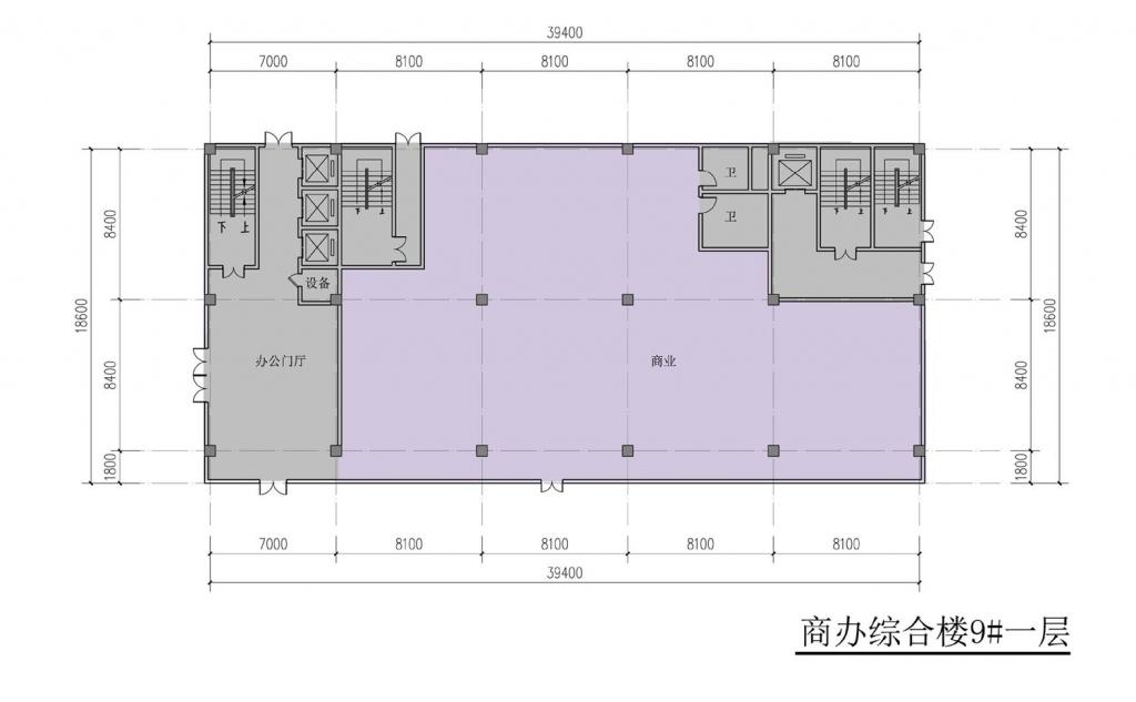 南翔汽车智慧新城商办综合楼9#一层