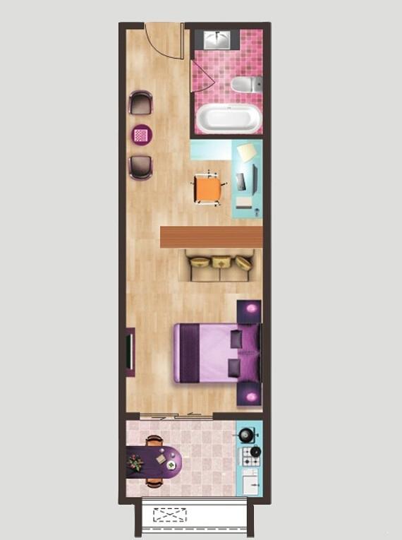 美生中央广场可乐公寓三期公寓