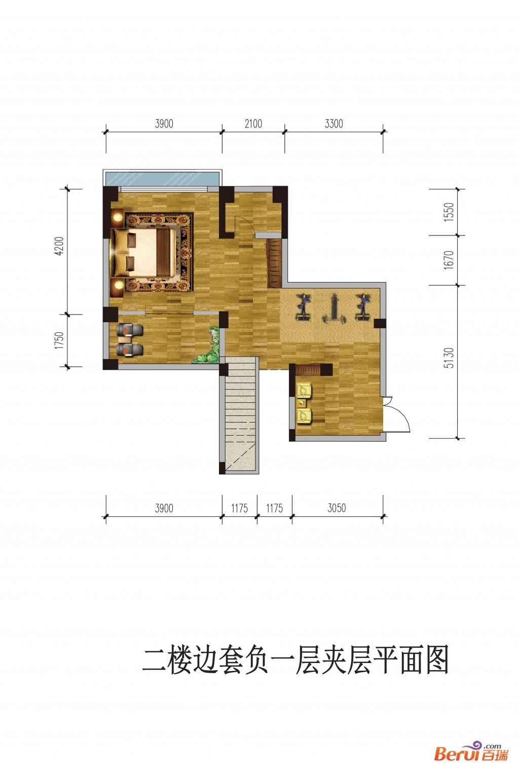 悦湖山院2楼边套负1夹层(洋房)