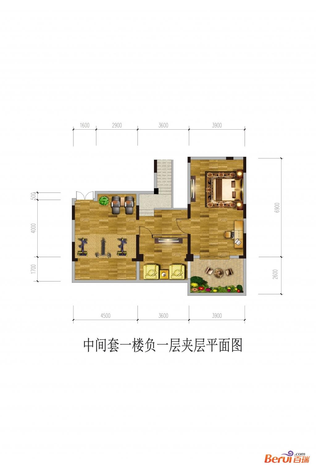 悦湖山院1楼负1夹层(洋房)