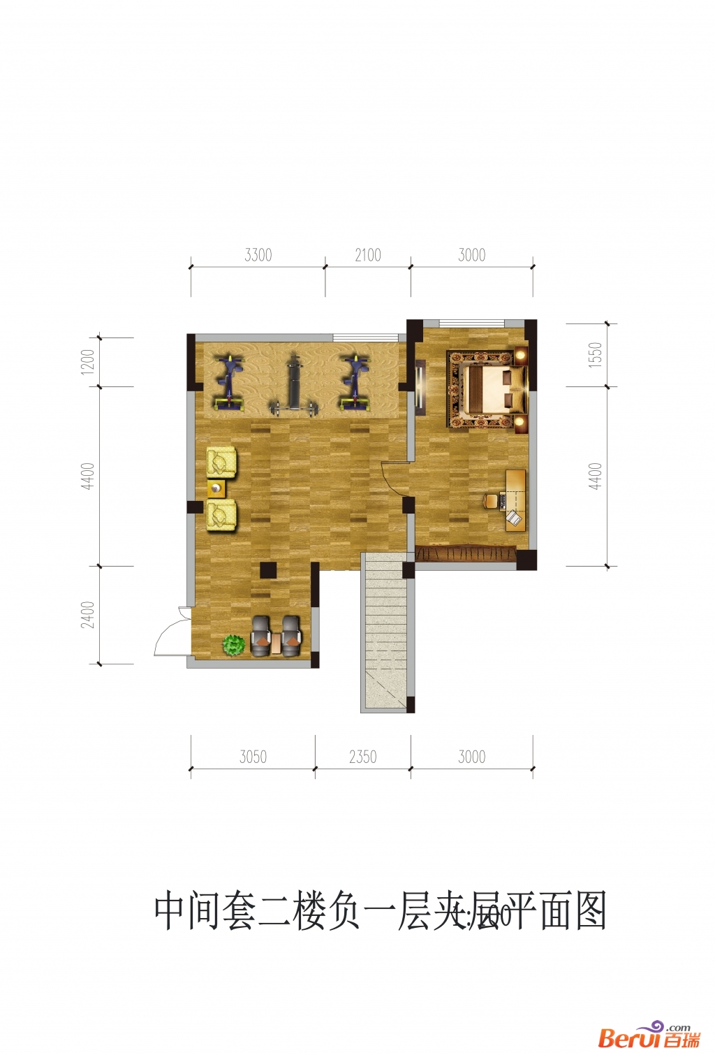 悦湖山院2楼负1夹层(洋房)