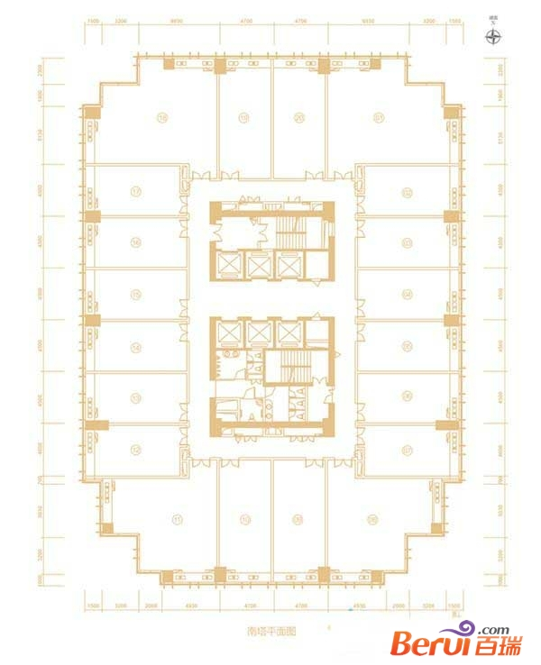 百利广场南塔平面图