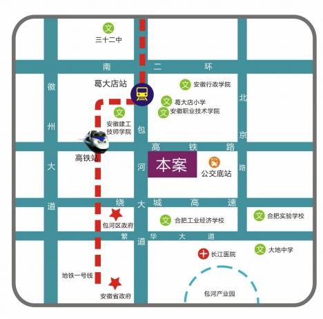 美生中央广场交通图