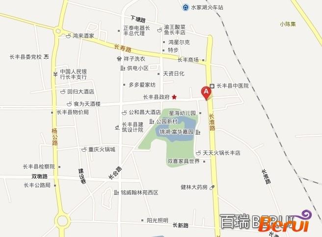 华展中央花园交通图