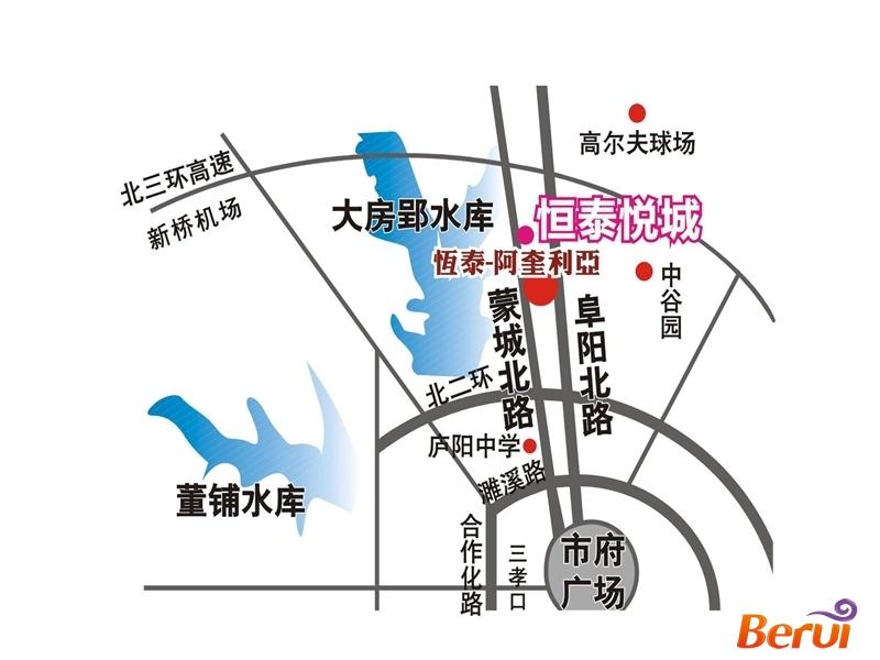 恒泰悦城交通图