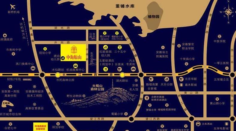 中海原山交通图