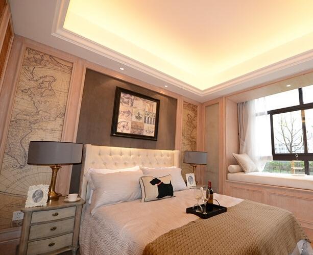 华地翡翠蓝湾高层样板间卧室