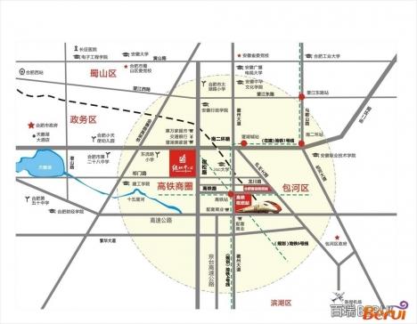 绿地滨湖国际花都交通图