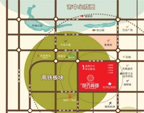信达银杏尚郡交通图