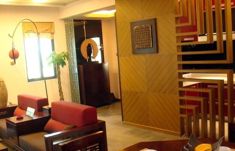 隆昊昊天园143㎡样板间客厅一角