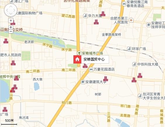 安粮国贸中心交通图