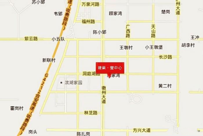 建业壹中心区位图