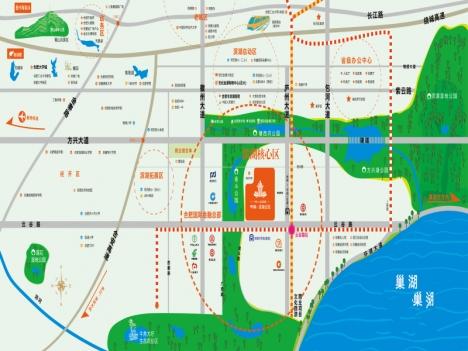 中海滨湖央墅交通图